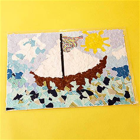 How To Make A Paper Mosaic Collage - cool paper crafts for