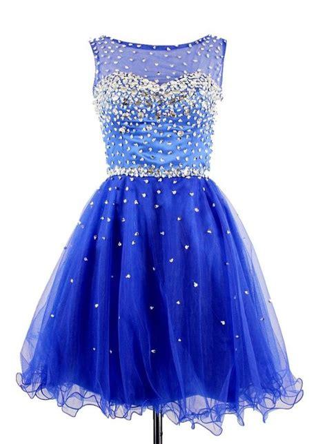 Royal Blue Homecoming Dress,Short Prom Dresses,Tulle