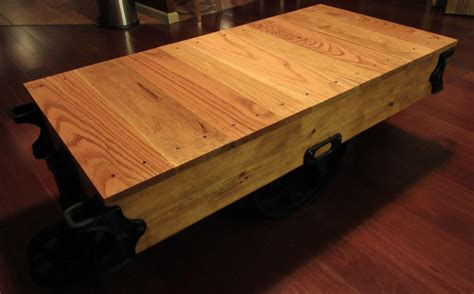 How To Restore A Coffee Table How To Build A Factory Cart Coffee Table Restore An Factory Cart