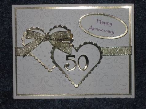 Handmade Golden Wedding Cards - best 25 wedding anniversary cards ideas on