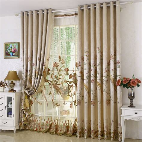 curtains for room aliexpress buy high grade luxury window curtain set for living room embroidered floral