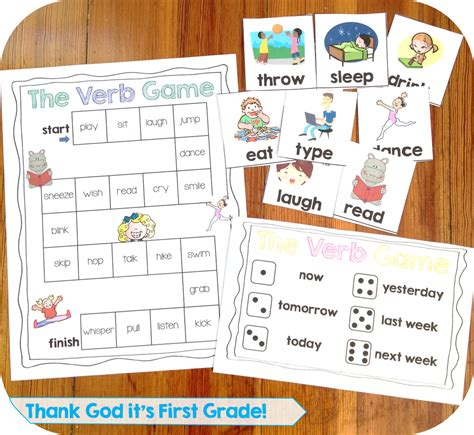 printable games with the verb to be first grade common core language activities and printables
