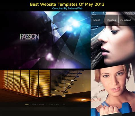 Best Website Templates Of May 2013 Entheos Best Web Templates
