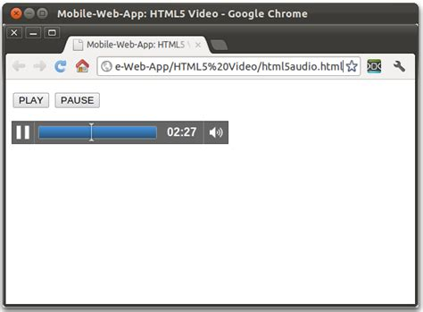 html5 audio mobile mobile web app play mp3 in html5 audio tag
