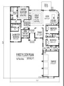 4 Bedroom 1 Story House Plans Single Story House Design Tuscan House Floor Plans 4 And 5