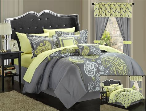 comforter yellow total fab yellow and grey comforter sets and bedding