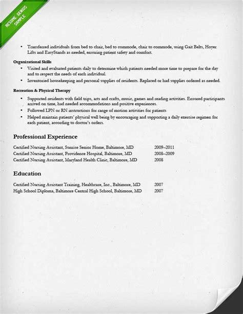 sample resume for cna cna pinterest sample resume nursing