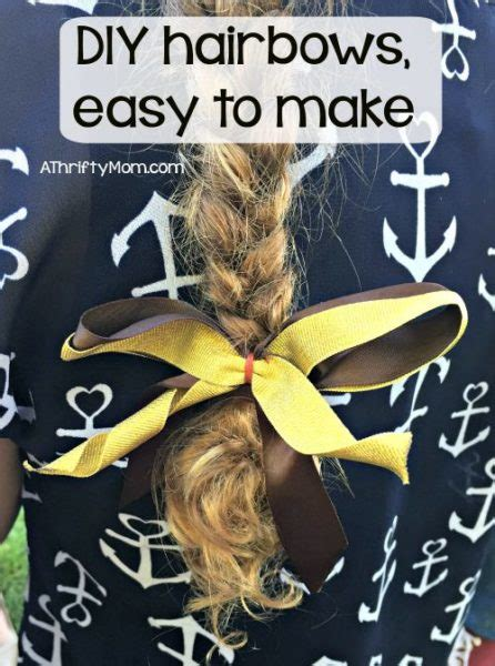Easy Accessories To Make For by Easy To Make Diy Diy Hairbows Us70