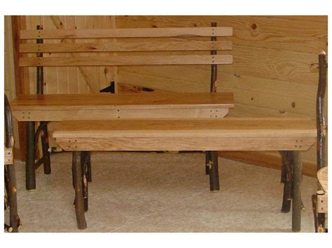hickory bench benches amish furniture by brandenberry amish furniture