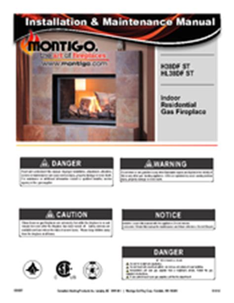 montigo fireplace parts montigo h38df st manuals