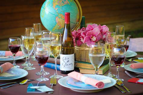 around the world centerpieces let s fly away together travel theme wedding ideas