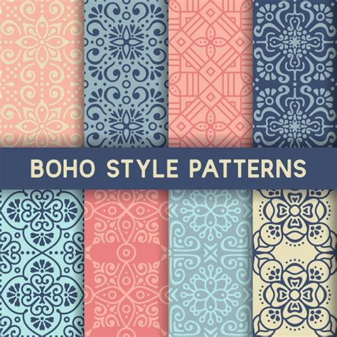 matching your pattern descargar gratis 8 patrones con elementos ornamentales descargar vectores