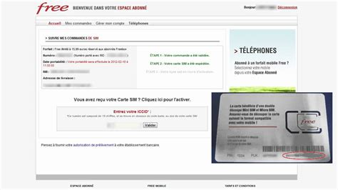 Free Mobile by Activer La Carte Sim Free Mobile