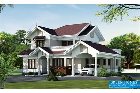 Of Home Design Green Homes Beautiful Villa Elevation In 2000 Sq