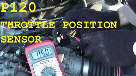 how to test and replace the throttle position sensor tps p0120 youtube