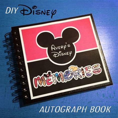diy disney autograph memory book documenting