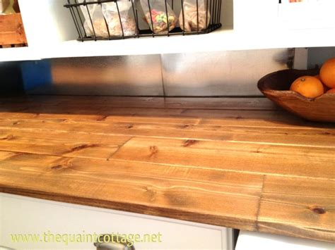 the quaint cottage wood countertops for laundry room