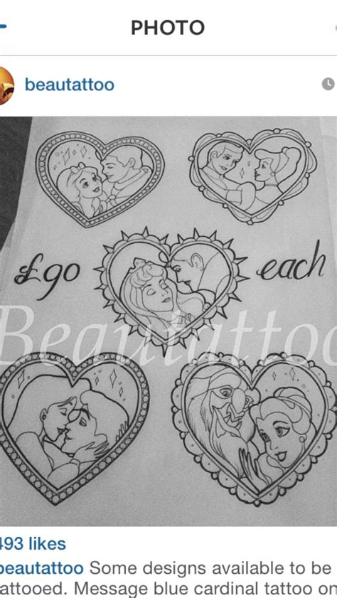 disney couples tattoo designs tattoos pinterest