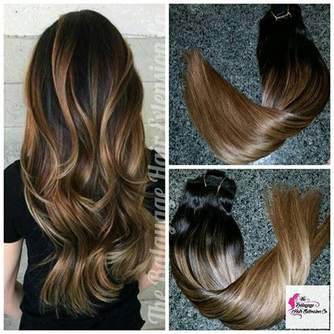 hair weevinf in south jersey dark brown hair extensions balayage hair extensions balayage