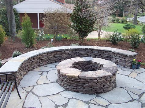 Flagstone Firepit Landscape Landscape Design Patios Landscaping In Prince William Fairfax And
