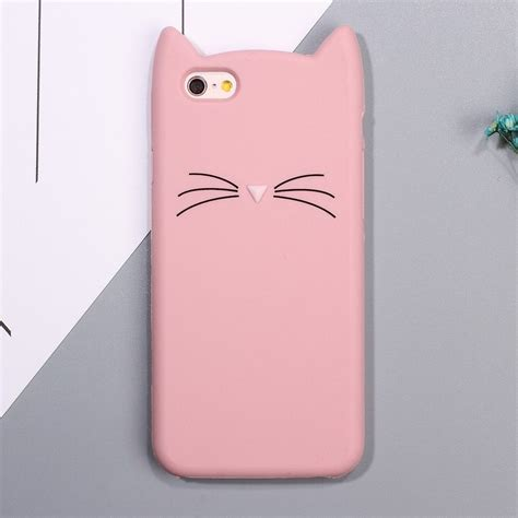coque iphone   silicone design chat rose iphone