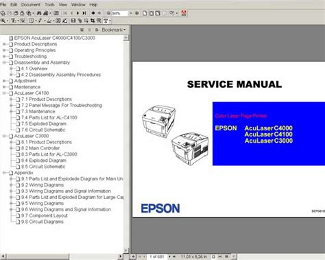 reset manual t11 epson aculaser c3000 c4000 c4100 color laser printers