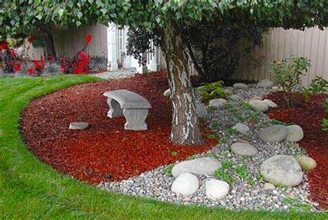 pictures of cheap backyard landscaping ideas tree sitting