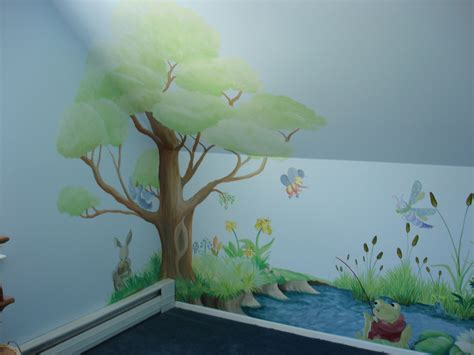 painted wall mural painted tree wall mural dreamwalldesigns custom