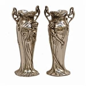 vas antique silver nouveau figurine vases deco