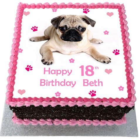 happy birthday pug cake pug birthday cake flecks cakes