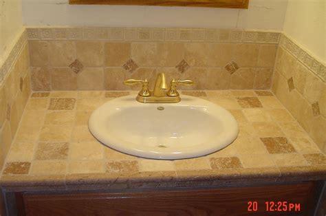 Tile Bathroom Sink - tile bathroom vanity