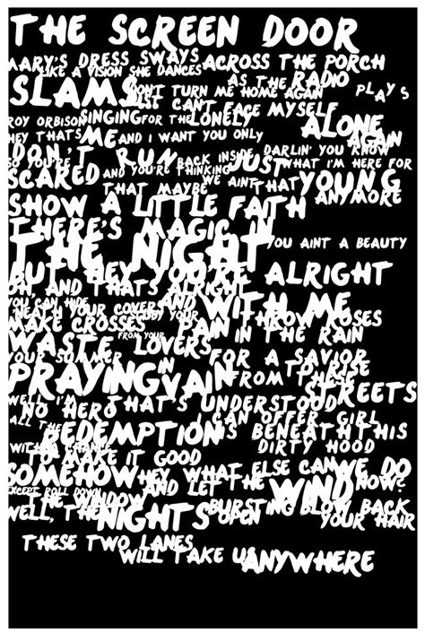 springsteen lyrics 173 best images about bruce springsteen s lyrics on