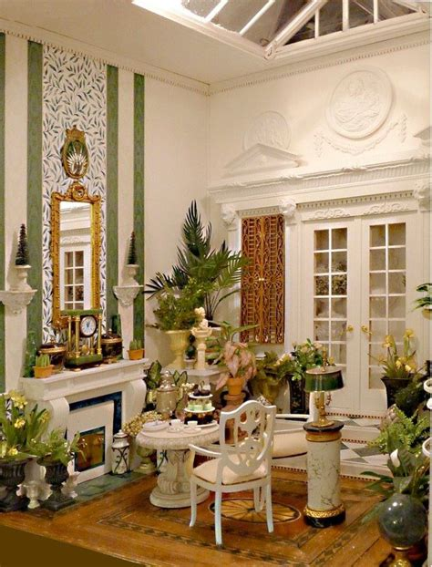 miniature doll houses winter garden at dollhouses dollhouse miniatures dolls pinterest