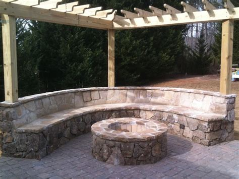 Flagstone Patio With Firepit Paver Patio Flagstone Firepit Installation Traditional Landscape Other Metro By
