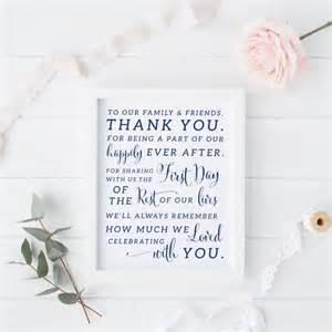 printable navy wedding thank you sign navy wedding thank you card instant thank