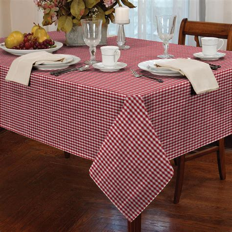 kitchen table linens garden picnic gingham check tablecloth dining room table