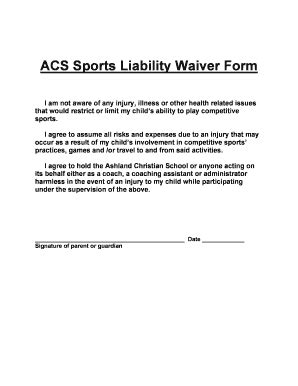 waiver form template for sports injury liability waiver forms and templates fillable