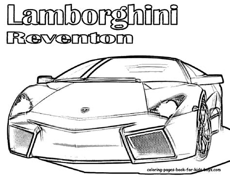 Lamborghini Reventon Cool Coloring Pages Coloring Pages Cool Coloring Pages For Boys Free
