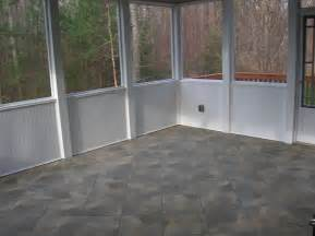 tile floor porches bead board deck building screen