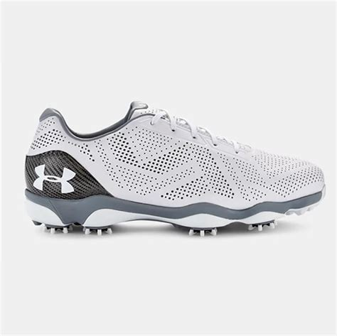 under armoir golf under armour drive one golf shoes 1294917 white grey
