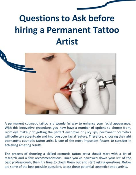 tattoo artist questions questions to ask before hiring a permanent tattoo artist