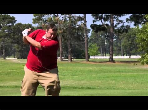 funny golf swing video fat man playing funny golf