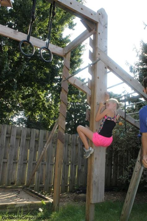 backyard gymnastics equipment remodelaholic how to build your own american ninja