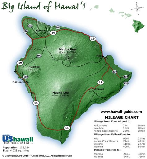 printable road map big island hawaii big island of hawaii maps