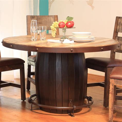 Dining Tables Direct International Furniture Direct 900 Antique Dining Table With Barrell Base And Iron