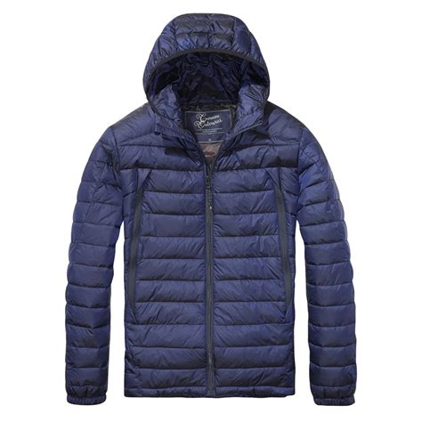 Mens Quilted Jacket Uk by Scotch Soda Hooded Quilted Mens Jacket Mens From