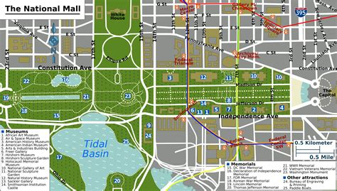washington dc map national mall the national mall i like maps washington