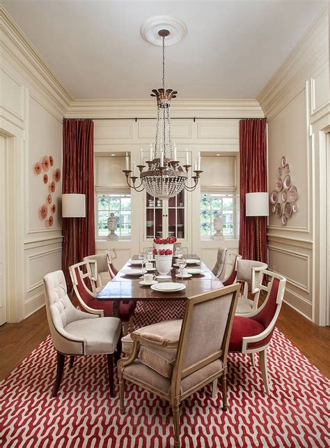 carpets and drapes how to create a sensational dining room with red panache