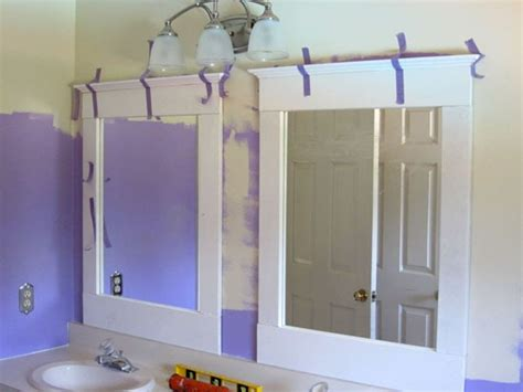 Add Trim To Bathroom Mirror Diy Bathroom Update Mirrors In My Own Style