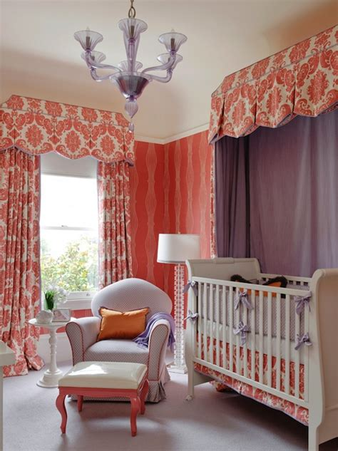 Orange Nursery Curtains Orange Nursery Design Traditional Nursery Kendall Wilkinson Design
